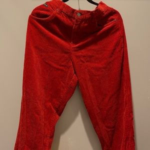 Red Corduroy Pamts